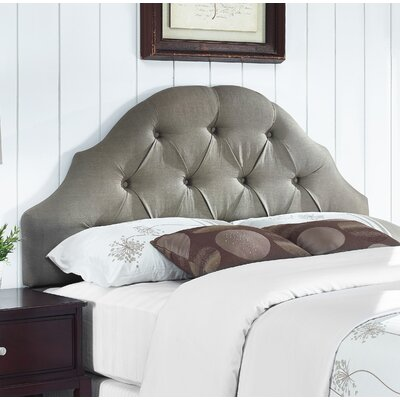 Joyce Upholstered Panel Headboard Size: Full/Queen, Upholstery: Warm Grey