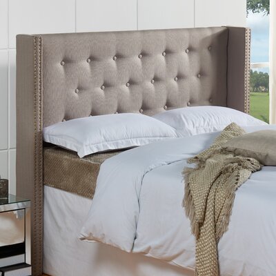 Dowlen Upholstered Wingback Headboard Size: Full/Queen, Upholstery: Mouse