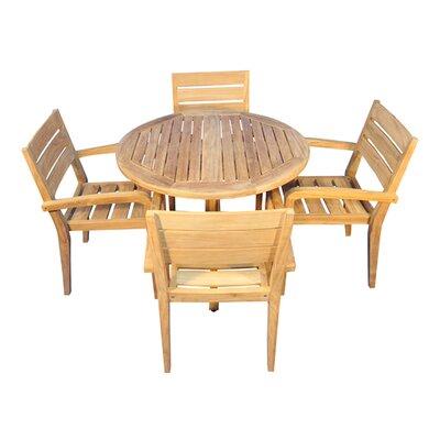 Encinas 5 Piece Indoor/Outdoor Dining Set