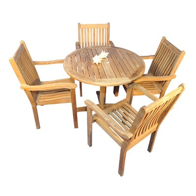 Virginia 5 Piece Indoor/Outdoor Dining Set