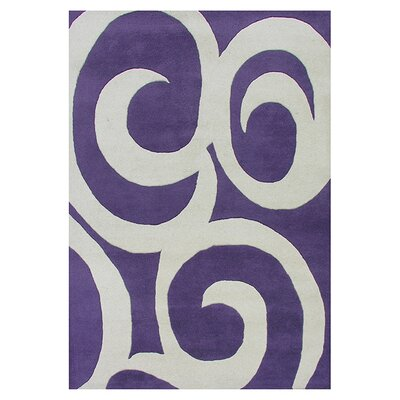 Spira Hand-Tufted Purple Area Rug