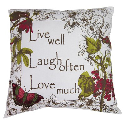 Live Laugh Love Cotton Throw Pillow