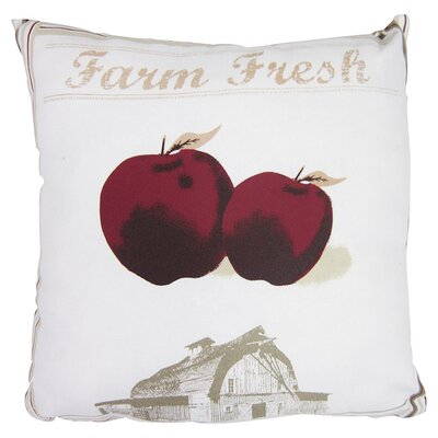 Farm Fresh Cotton Throw Pillow
