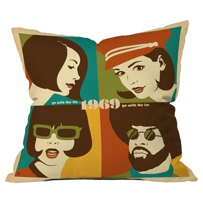 Anderson Design Group Go With The Flo Fro Outdoor Throw Pillow Size: 18 H x 18 W