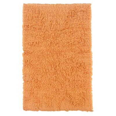 Flokati Hand-Woven Pumpkin Area Rug Rug Size: Rectangle 5 x 8