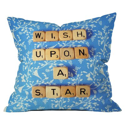Happee Monkee Wish Upon a Star 1 Outdoor Throw Pillow Size: 18 H x 18 W x 6 D