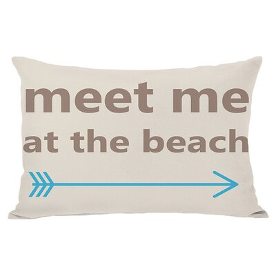 At the Beach Indoor/Outdoor Lumbar Pillow