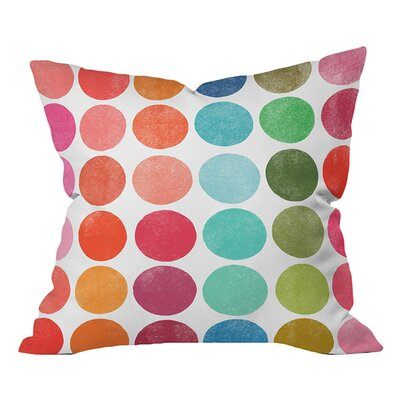 Garima Dhawan Colorplay 5 Outdoor Throw Pillow Size: 26 H x 26 W x 5 D