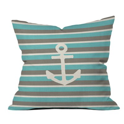 Bianca Green Anchor 1 Outdoor Throw Pillow Size: 18 H x 18 W x 5 D