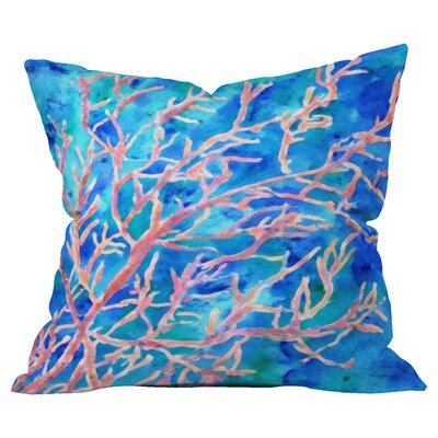 Coral Fan Outdoor Throw Pillow Size: 18 H x 18 W x 5 D