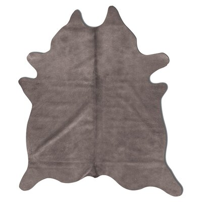 Geneva Cowhide 7 x 6 Rug in Grey