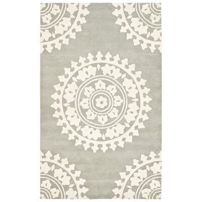Hawley Hand-Woven Gray Area Rug Rug Size: Rectangle 9 x 12