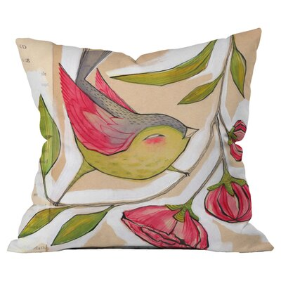 Cori Dantini Tweet Outdoor Throw Pillow Size: 18 H x 18 W