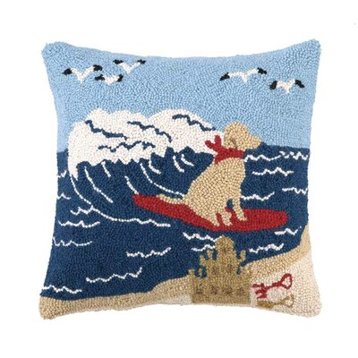 Surfing Lab Wool Throw Pillow