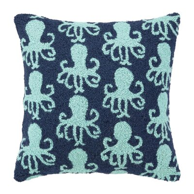 Dancing Octopus Wool Throw Pillow