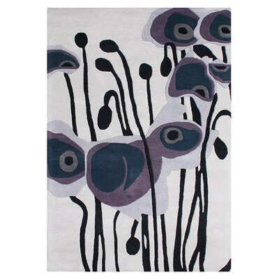 Ashlynn Hand-Woven Purple Area Rug Rug Size: 5 x 8