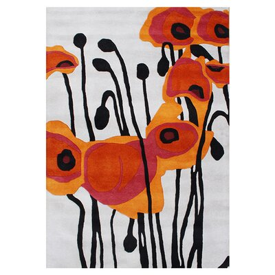 Ashlynn Hand-Woven Orange Area Rug Rug Size: 5 x 8