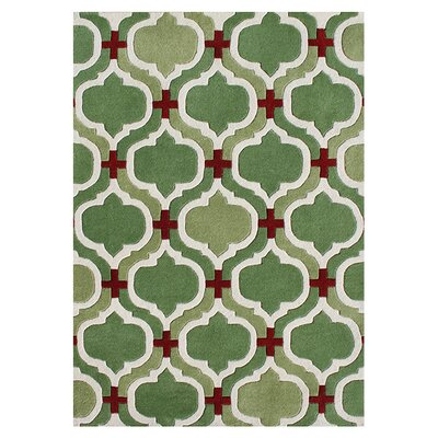 Hadley Hand-Tufted Green Area Rug