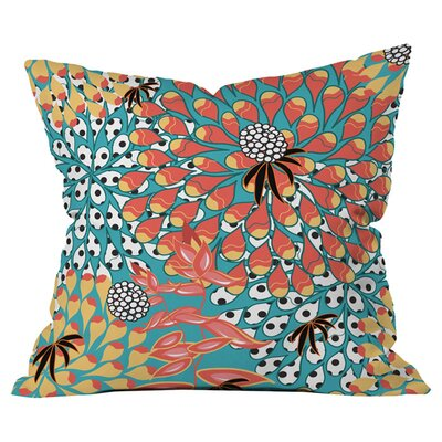 Juliana Curi Flower Dots 1 Outdoor Throw Pillow