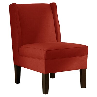Ella Slipper Chair Upholstery: Red