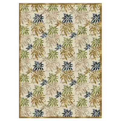 Palms Gold Area Rug Size: 16 x 23