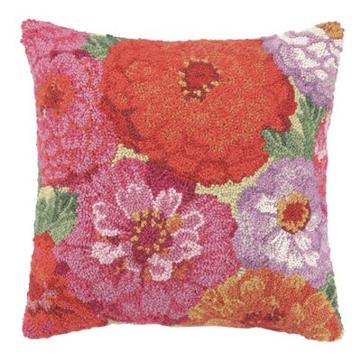 Zinnia Fields Wool Throw Pillow
