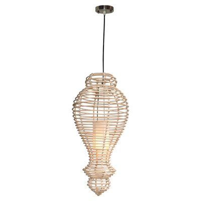 Orinda Rattan 1-Light Mini Pendant