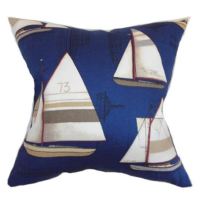 Regatta Cotton Throw Pillow Size: 18 x 18