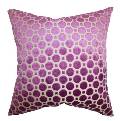 Kostya Velvet Throw Pillow Color: Magenta, Size: 20 x 20