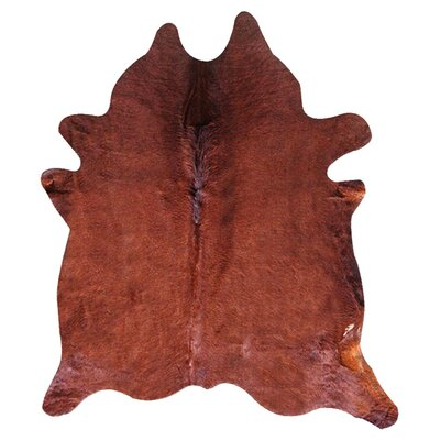 Geneva Cowhide 6 x 7 Rug in Brown