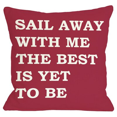 Sail Away Indoor/Outdoor Throw Pillow