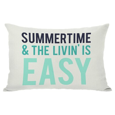 Summertime Indoor/Outdoor Lumbar Pillow