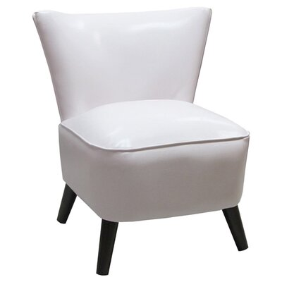 Crown Slipper Chair Upholstery: Classico White