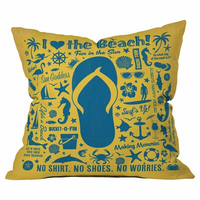 Anderson Design Group Flip Flop Pattern Outdoor Throw Pillow