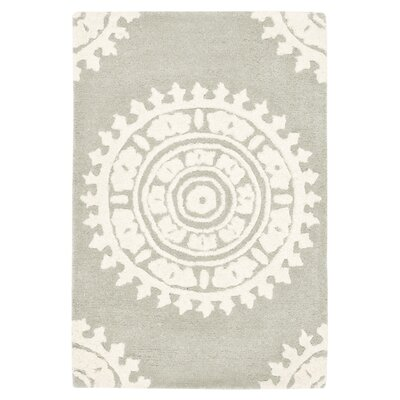 Hawley Hand-Woven Gray Area Rug Rug Size: Rectangle 26 x 4