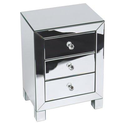 Cerise End Table Color: Silver