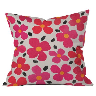 Garima Dhawan Dogwood Berry Outdoor Throw Pillow Size: 18 H x 18 W