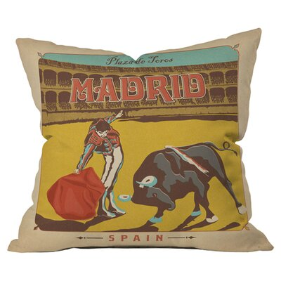 Anderson Design Group Madrid Outdoor Throw Pillow Size: 18 H x 18 W