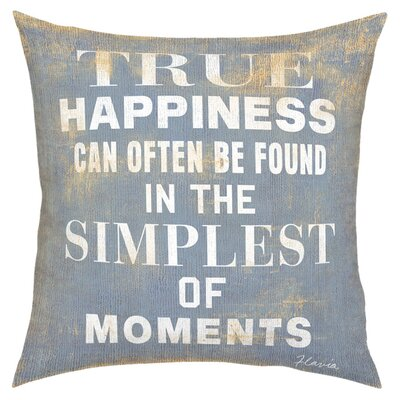 True Happiness Throw Pillow