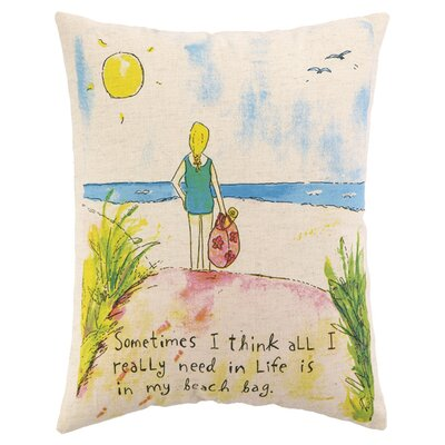 Beach Bag Lumbar Pillow