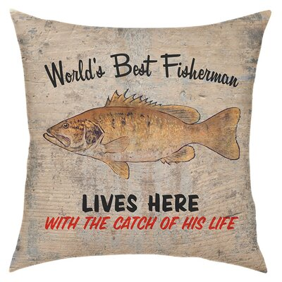 Worlds Best Fisherman Throw Pillow