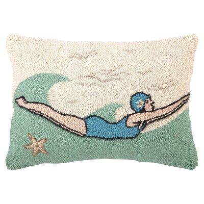 Diver Wool Throw Pillow