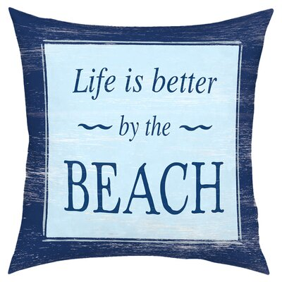 Life Is Better Throw Pillow