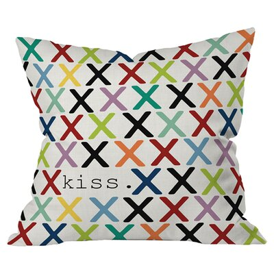 Sharon Turner Kiss Outdoor Throw Pillow Size: 18 H x 18 W