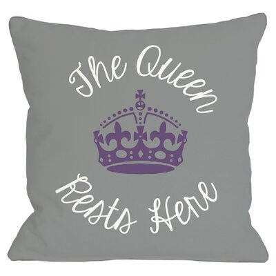 Queen Rests Here Throw Pillow