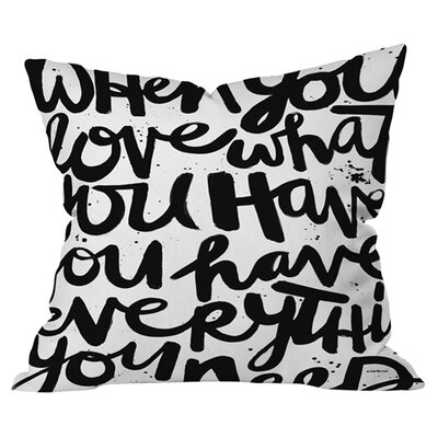 Kal Barteski If You Love Outdoor Throw Pillow Size: 18 H x 18 W x 6 D