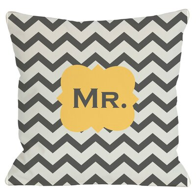 Mr. Throw Pillow