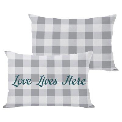 Love Lives Here Lumbar Pillow