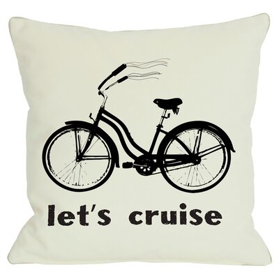 Lets Cruise Throw Pillow