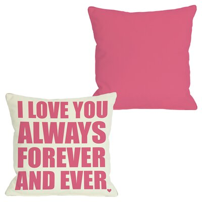 Always Forever Throw Pillow